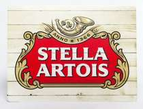 Placa Decorativa de Metal 30x20cm - Stella Artois MD