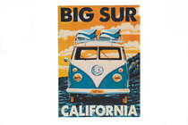 Placa Decorativa de Metal 30x40cm  Big Sur California