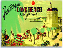 Placa Decorativa de Metal 30x40cm -Long Beach California