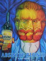 Placa Decorativa de Metal 30x40cm - Absinto Van Gogh