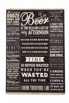 Placa Decorativa de Metal 30x40cm - Beer is the Reason