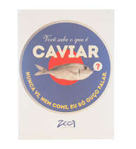 Placa Decorativa de Metal 30x40cm - Caviar