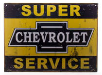 Placa Decorativa de Metal 30x40cm - Chevrolet Service