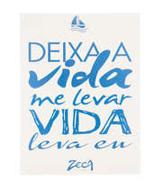 Placa Decorativa de Metal 30x40cm - Deixa a Vida