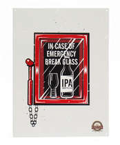 Placa Decorativa de Metal 30x40cm - Emergency