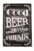 Placa Decorativa de Metal 30x40cm- Good Beer With Friends