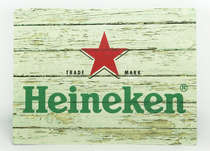 Placa Decorativa de Metal 30x40cm - Heineken MD