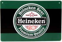 Placa Decorativa de Metal 30x40cm - Heineken Logo