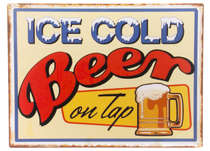 Placa Decorativa de Metal 30x40cm - Ice Cold Beer