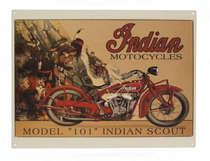 Placa Decorativa de Metal 30x40cm - Indian 101