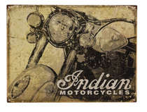 Placa Decorativa de Metal 30x40cm - Indian Motocycles