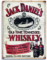 Placa Decorativa de Metal 30x40cm - Jack Old Time Tennessee