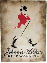 Placa Decorativa de Metal 30x40cm - Johnnie Walker