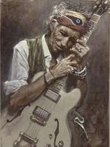 Placa Decorativa de Metal 30x40cm - Keith Richards