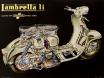 Placa Decorativa de Metal 30x40cm - Lambretta li