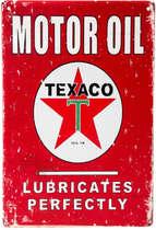 Placa Decorativa de Metal 30x40cm - Motor Oil Texaco