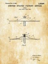 Placa Decorativa de Metal 30x40cm - Patente Zildjian Cymbal 1940