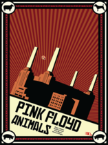 Placa Decorativa de Metal 30x40cm - Pink Floyd Animals Poster