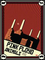 Placa Decorativa de Metal 30x40cm - Pink Floyd Animals Poster