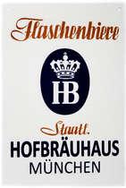 Placa Decorativa de Metal HB - Hofbrauhaus - 30x20cm
