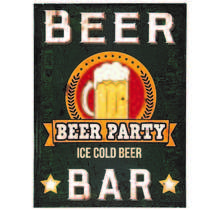 Placa Decorativa de Metal 30 x 40 cm - Beer Party
