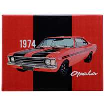 Placa Decorativa de Metal - GM Opala SS  1974 - 19 x 26 c