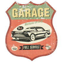 Placa Decorativa em Metal - The Garage -35x30 cm