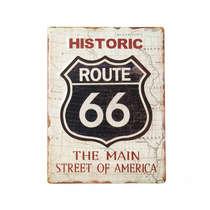 Placa Decorativa de Metal - Historic Route 66