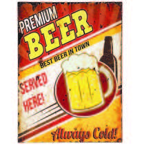 Placa Decorativa Metal 30 x 40 cm - Premium Beer