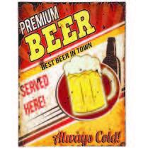 Placa Decorativa Metal 30 x 40 cm - Premium Beer