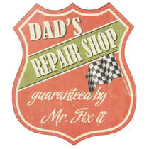Placa Decorativa em Metal - Repair Shop -35x30 cm