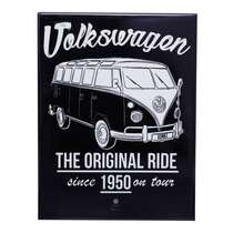 Placa Decorativa de Metal - VW Kombi - 26 x 19 cm
