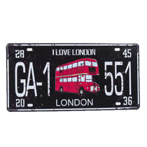 Placa Decorativa em Metal - I Love London