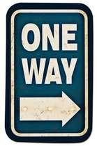 Placa MDF One Way 28,8 x 17 cm