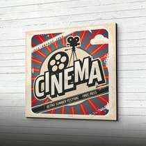 Placa MDF CINEMA - 41 x 41cm