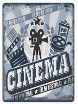 Placa MDF Cinema- 42x30 cm