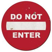 Placa MDF Do Not Enter - 39 x 39 cm