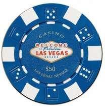 Placa MDF Ficha Casino 50US$ - 20 x 20 cm