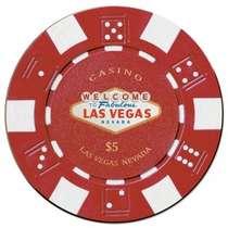 Placa MDF Ficha Casino 5US$ - 20 x 20 cm