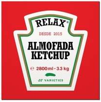 Placa MDF Ketchup - 20 x 20 cm