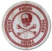 Placa MDF Poison - 39 x 39 cm