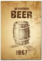 Placa MDF Premium Beer  - 44 x 30 cm