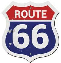 Placa MDF Route 66 Colors - 36 x 33,5 cm