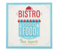 Placa MDF  Good Food  41 x 41 cm