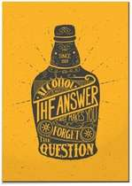 Placa MDF Alcohol is Not the Answer- 44x30 cm