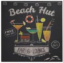 Placa MDF - Beach Hut - 40x40 cm