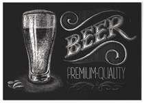 Placa MDF Beer Premium Quality - 30x44 cm