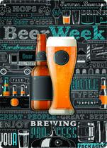 Placa MDF - Beer Week - 42x30 cm