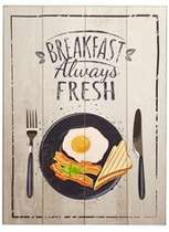 Placa MDF - Breakfast - 40x30 cm
