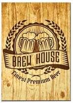 Placa MDF Brew House- 30x44 cm